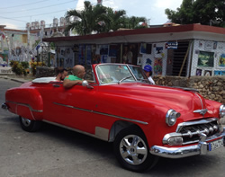 Cruise to Cuba and rent an old car